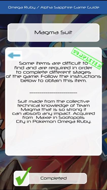 Pocket Guide for Pokemon Omega Ruby & Alpha Sapphire