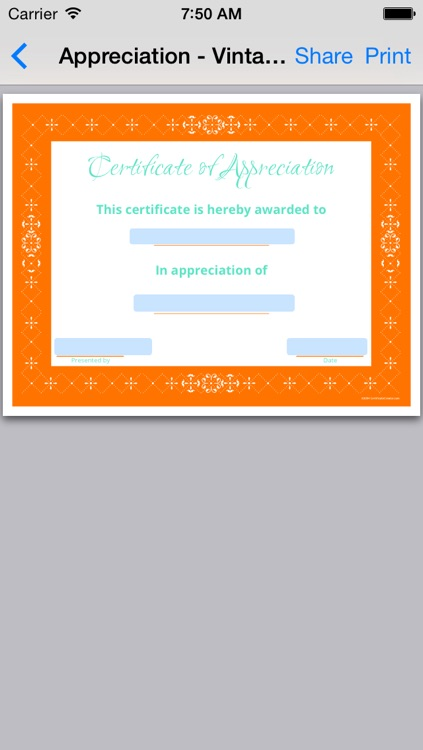 Appreciation Certificates 01 screenshot-3