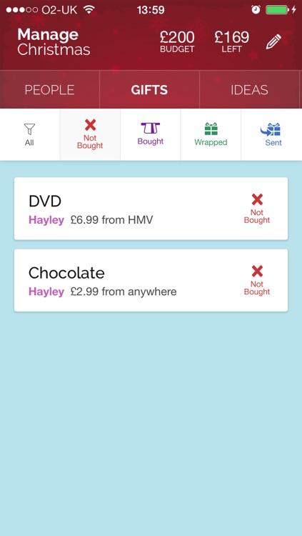 Manage Christmas - Christmas Gift List Manager screenshot-3