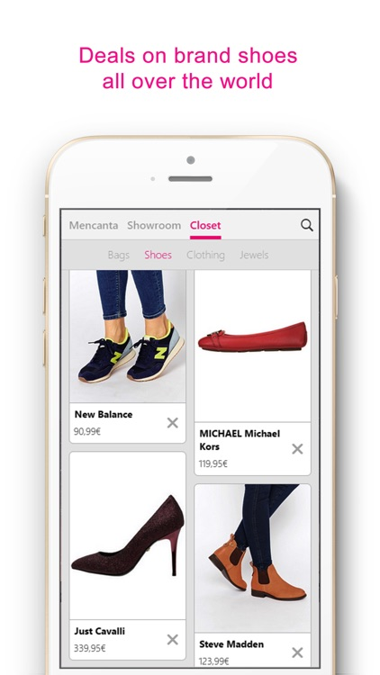 Mencanta Shoes – Offers in sandals, boots, heels and sneakers. Exclusive discounts on shoes from Manolo Blahnik, Christian Louboutin, Jimmy Choo, Fred Perry, New Balance, Justfab, Jeffrey Campbell, Clarks, Converse, Sam Edelman and more. screenshot-4