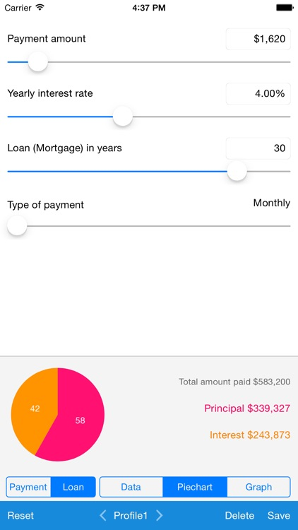 Loan Calculator - Quick Estimate of Your Loan and Mortgage: Principal, Interest and Loan Balance screenshot-3