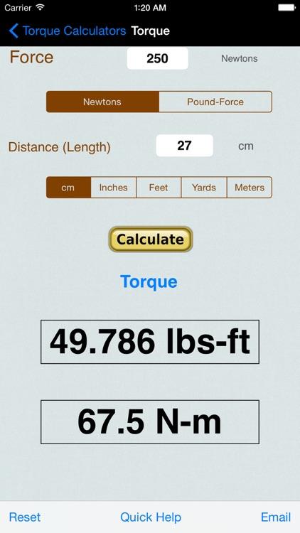 Torque Calculator & Units Converter screenshot-3