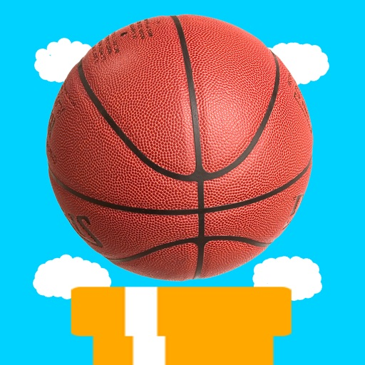 Flying Basketball Allstars - Fly Through Pipes in Solo or Multiplayer Mode iOS App