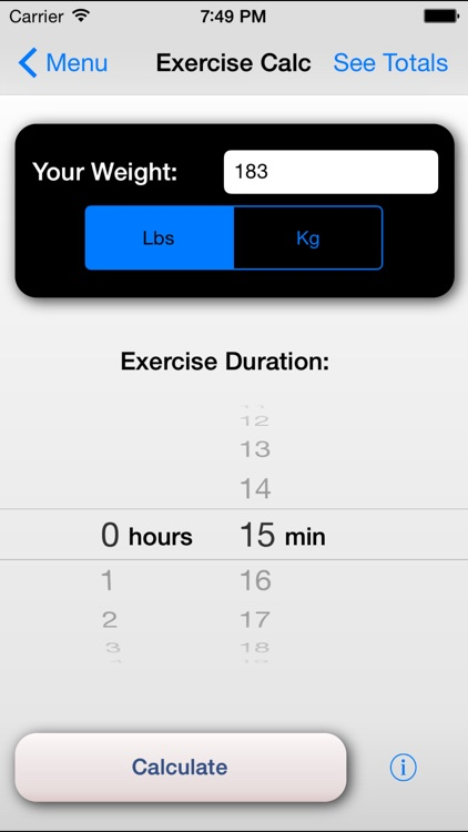 Exercise Calorie Calculator - Calculate the Calories Burned During Exercise screenshot-4