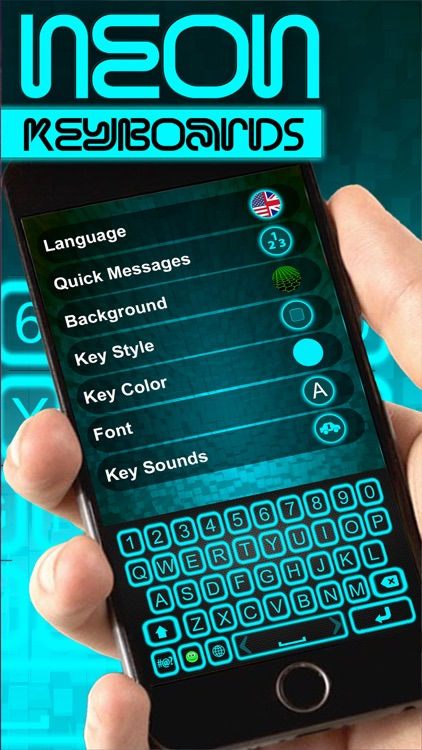 Glow Neon Colors Keyboard – Download Colorful Theme s and