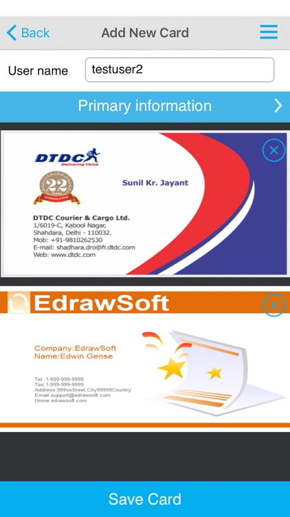 eMyPA - Business Card Scanner screenshot-3