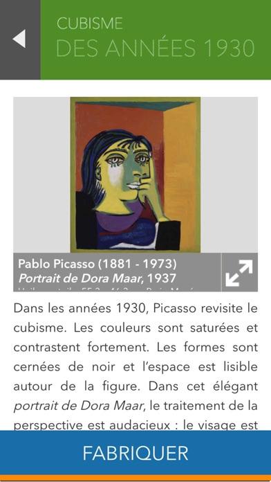 L'atelier Picasso, l'application ludique de l'exposition Picasso.Mania screenshot two