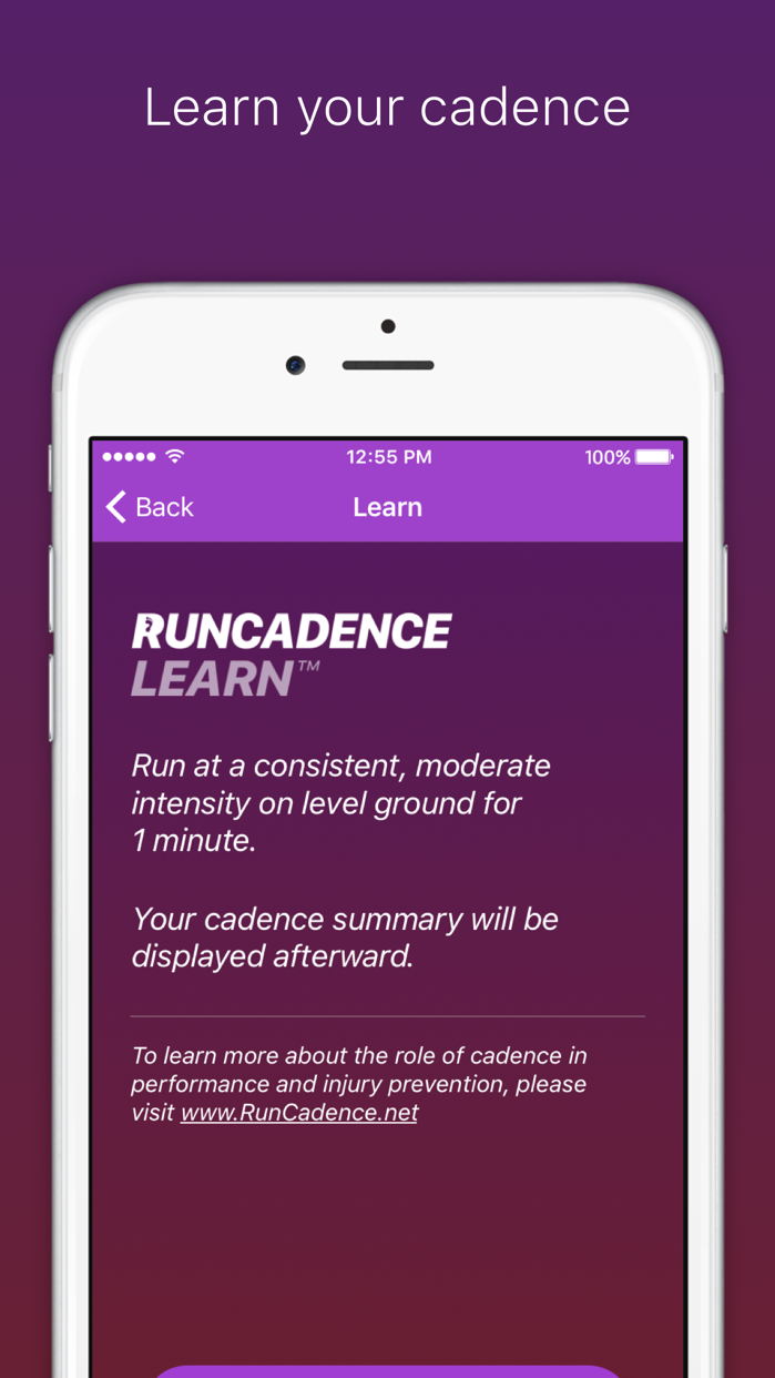 RunCadence Mobile Screenshot