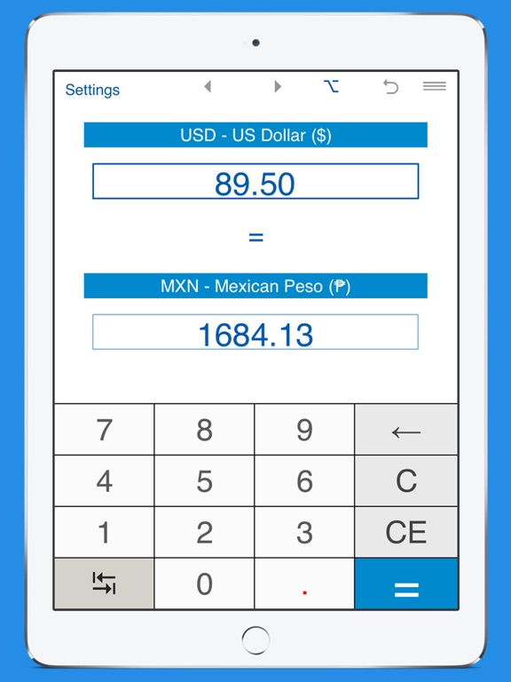 Screenshot 1 For Mexican Pesos To Dollars And Usd Mxn Converter