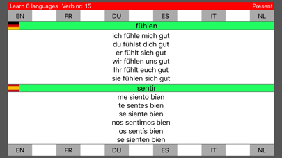 Learn 6 languages simultaneously using verbs free version screenshot two