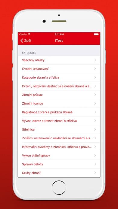Screenshot for Zbrojní průkaz - iTest in Czech Republic App Store