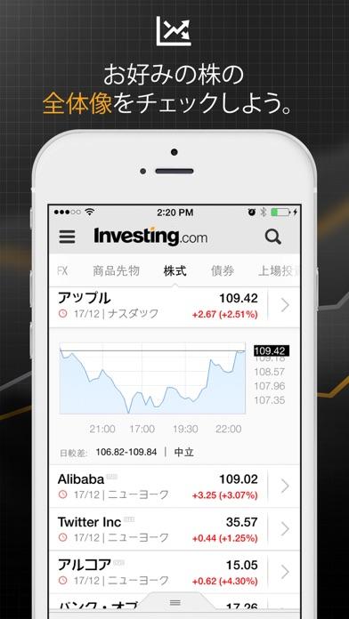 リアルタイム相場アプリ by Investing.comのスクリーンショット1