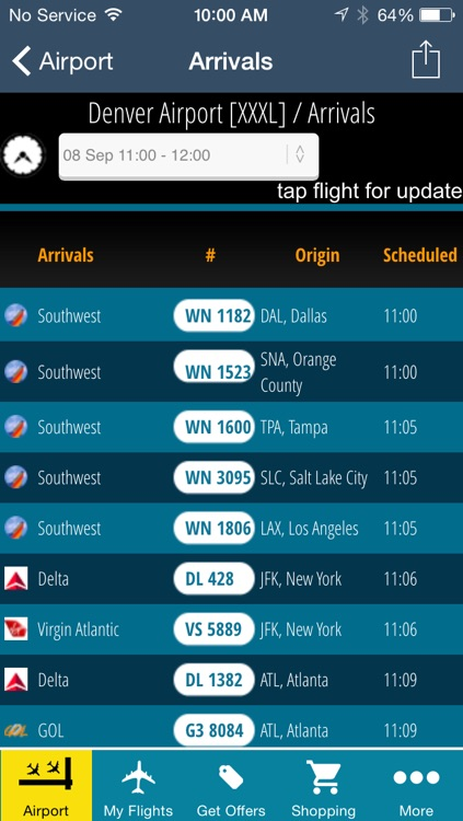 Denver Airport Pro (DEN) Flight Tracker radar screenshot-2