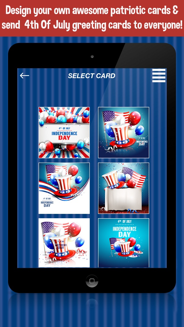 4th Of July Independence Day Card Creator App Price Drops