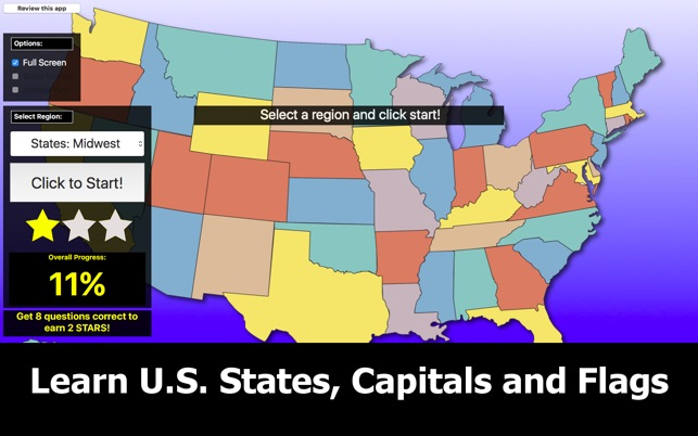 United States Map Quiz Edu Ed. on the Mac App Store