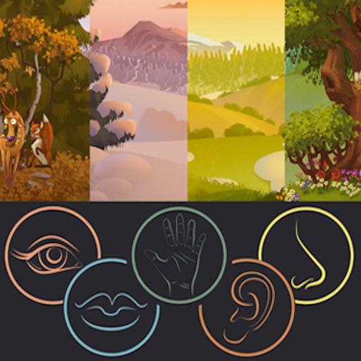 kids 5 Senses 4 Seasons- An Interactive Children's Flashcard