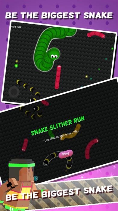Snake Spiele - Hungrige Schlacht Wurm Essen Farbe Punkt SkinsScreenshot von 3