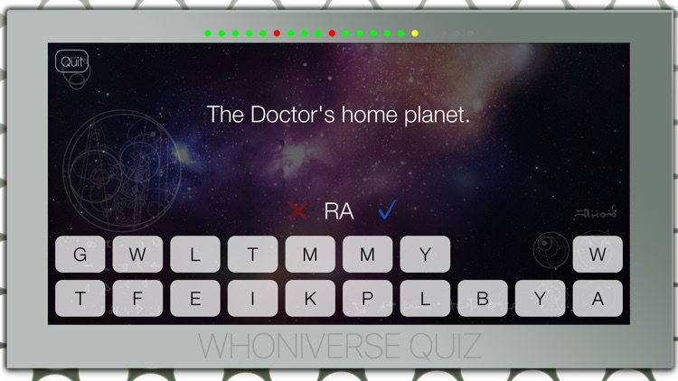 Whoniverse Quiz — trivia game for Doctor Who