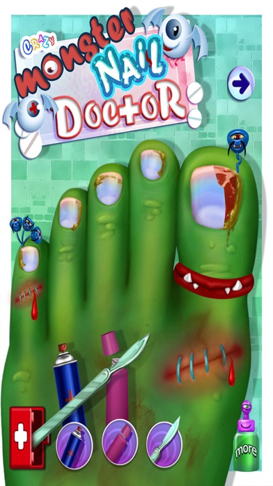 Little Monster Toe Nail Doctor Surgery Hospital - Free Fun