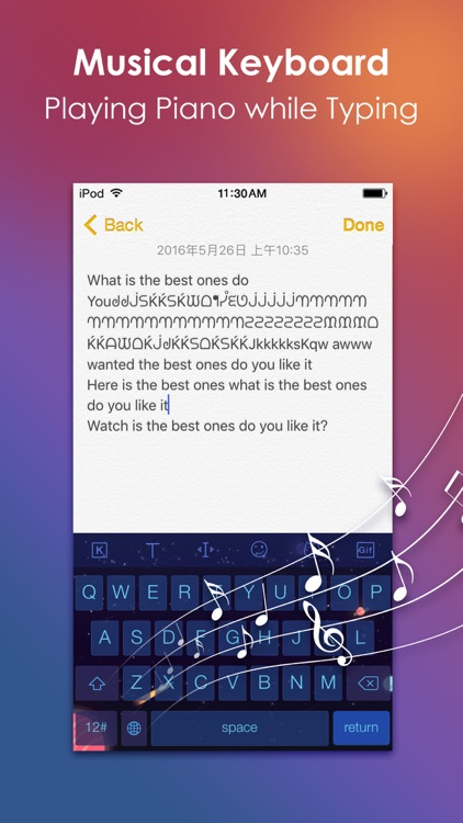 iKeyboard - Cool Fonts Keyboard with Emoji and Color Background Theme for iPhone & iPad