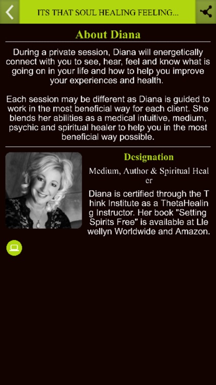 ITS THAT SOUL HEALING FEELING by Diana Palm