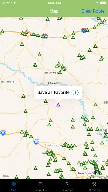 Texas – Camping & RV spots
