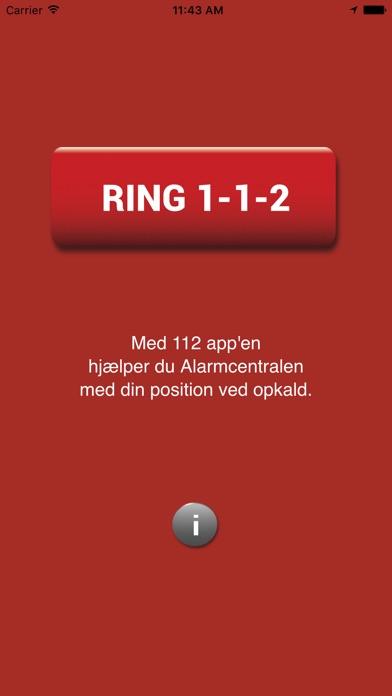 Screenshot for 112 app in Denmark App Store