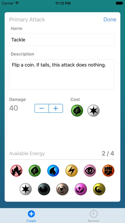 Card Builder for Pokemon screenshot-2