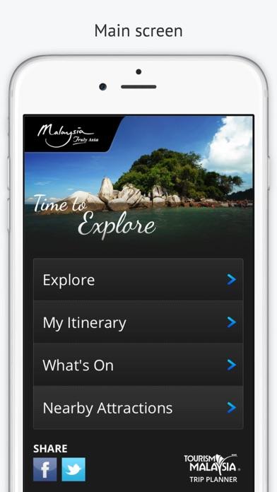 Malaysia Trip Planner screenshot one