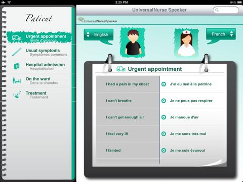 UniversalNurse Speaker: Translator for Nurses with Audio screenshot