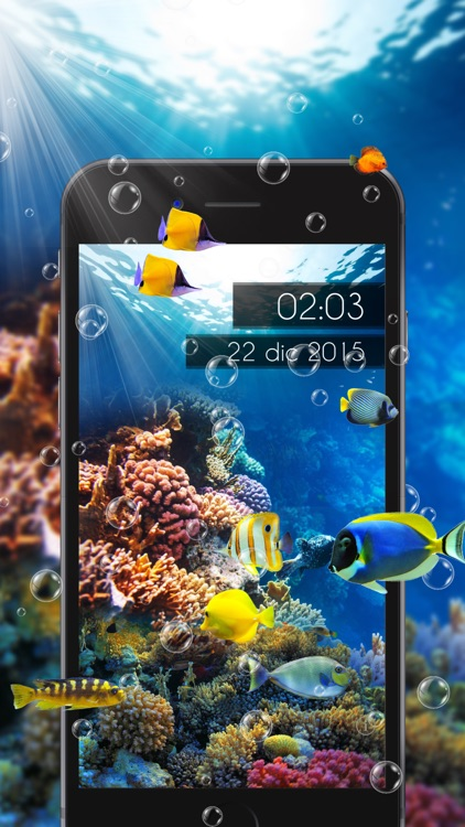 Amazing Aquarium Clock LITE screenshot-2