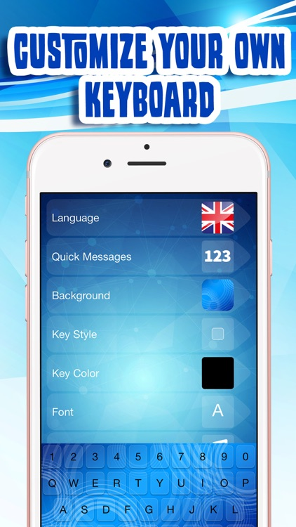 Blue Keyboard Maker! – Neon Keyboard Themes and Cute Color ...