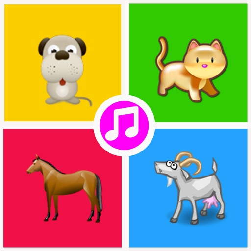 Farm Animal Sounds(Dog,Cat,Horse,Rooster,Cricket,Dove