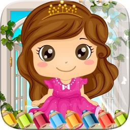 My Little Princess Coloring Book Pages - Amazing Paint and Draw Doodle For Kids Game