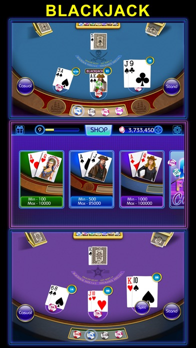Blackjack-black jack 21 casino Screenshot on iOS