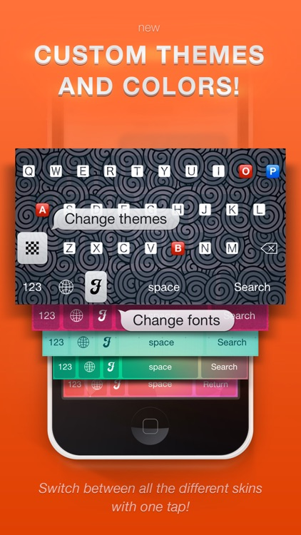 Textizer Font Keyboards Free - Fancy Keyboard themes with Emoji Fonts for Instagram screenshot-0