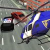 警察隊のヘリコプターのパイロット3D - チェイス車は犯罪者逮捕します