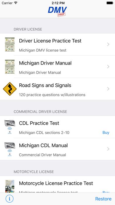 Michigan DMV Test Prep screenshot one
