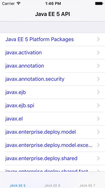 Java Platform, Enterprise Edition 5/6/7 API Specification