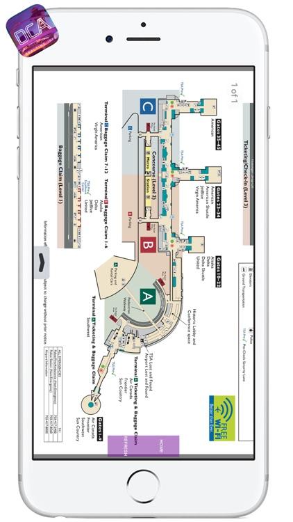 DCA AIRPORT - Realtime, Map, More - RONALD REAGAN WASHINGTON NATIONAL AIRPORT screenshot-3