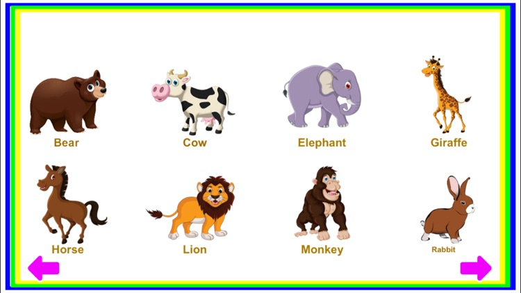 animals identify toddler game preschool puzzle learn app a4 ipad iphone