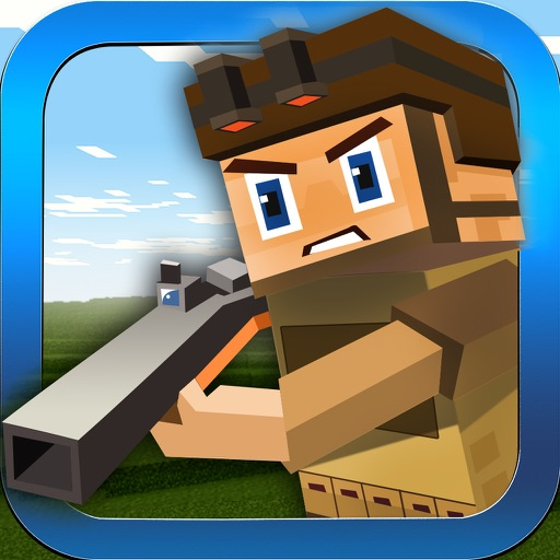 Block Battles City Crime Defense : Pixel war Gun-Craft Sniper Shooting Games