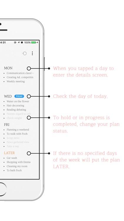 SevenDays - Weekly Plan screenshot-4