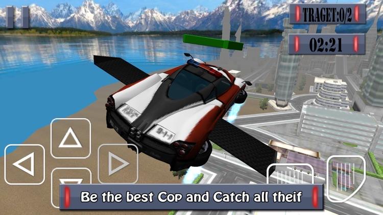 Flying Police Car - Police Chase Mafia Criminal Driver screenshot-3