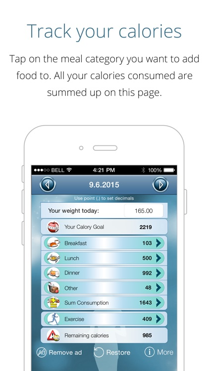 Calorie Counter - loose weight fast, track calories and reach your weight goal