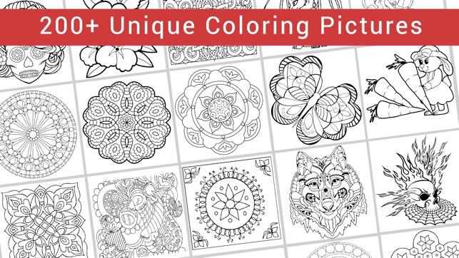 Colormy Free Fun Stress Relief Color Therapy Coloring Book For Adults On The App Store