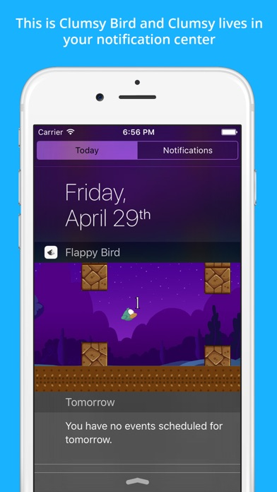 Clumsy Bird - The Trump Jumping And Switch Color Notification Widget Gameのおすすめ画像1