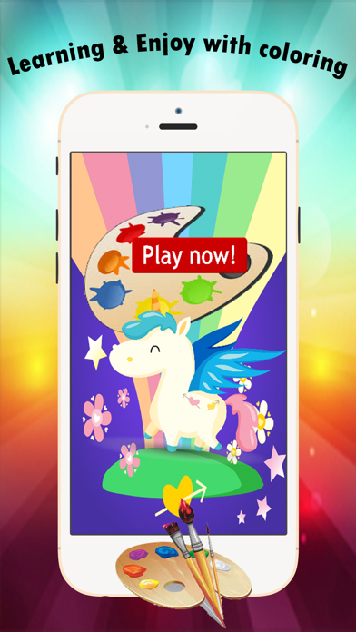 My Unicorn Coloring Book for children age 1-10: Games free