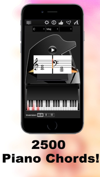 Piano Chords Compass - learn the chord notes & play them screenshot-0