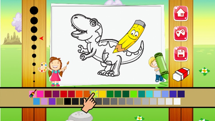 Dinosaur Coloring Book - Dino drawing and painting for kids games
